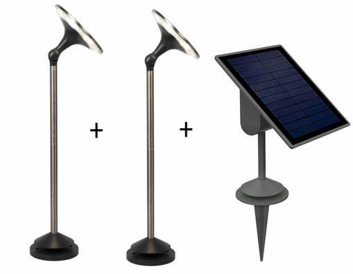 2x LUTEC SUN CONNEC LED Außen Solarleuchten Kiwa + Solarpanel für 33,90€ (statt 158€)