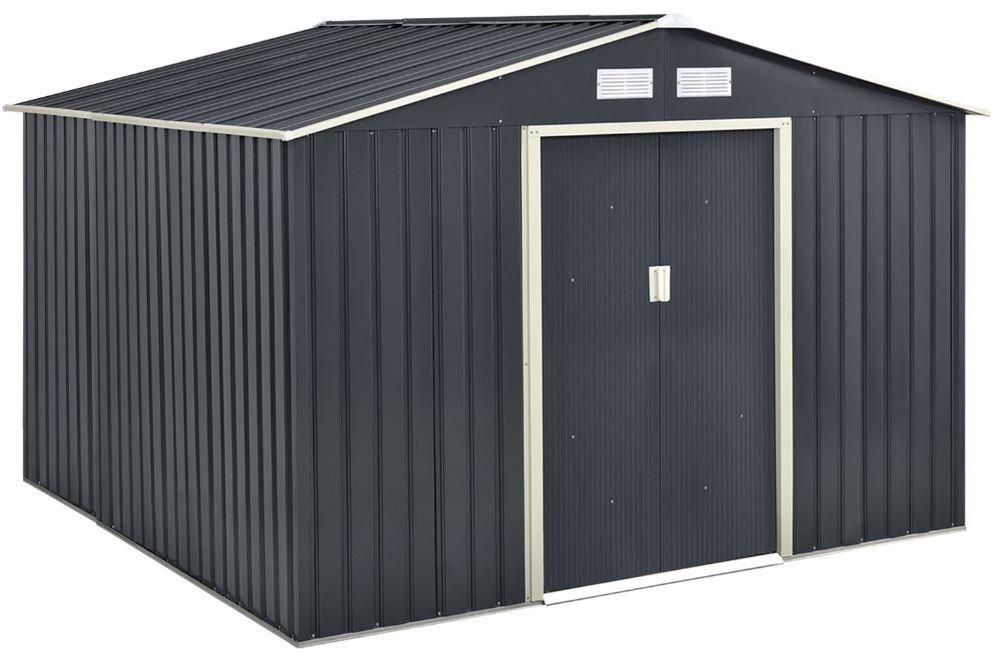 Juskys Metall Gartenhaus mit Satteldach und Fundament für 299,95€ (statt 340€)