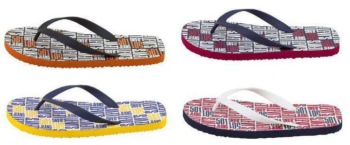 Levis Herren Dixon Allover   Flip Flop in 3 Designs für je 4,89€ (statt 10€)
