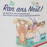 real: Bastelvorlage für ein Osterkörbchen gratis abholen