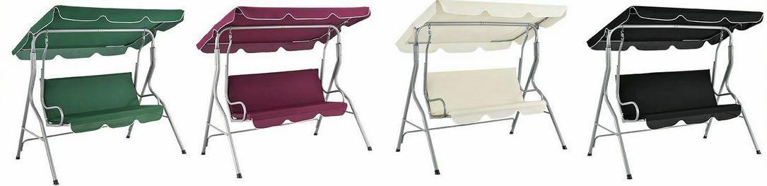 ArtLife Cecina Hollywoodschaukel 3 Sitzer mit Dach & Sitzauflage für 67,90€ (statt 80€)
