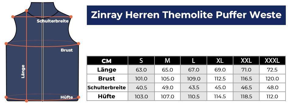 ZINRAY warme Outdoor Herren Steppweste  29,98€ (statt 46€)