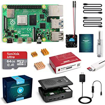 Raspberry Pi 4 Model B Kit mit 4GB & 64GB SD Karte für 86,24€ (statt 115€)
