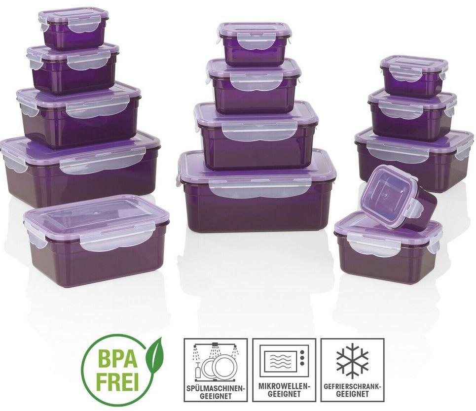 GOURMETmaxx Frischhaltedosen Klick it 28 tlg. in Lila für 21,99€ (statt 29€)