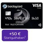 Barclaycard Visa mit 50€ Startguthaben + ein Leben lang keine Jahresgebühr – nun auch mit Apple Pay