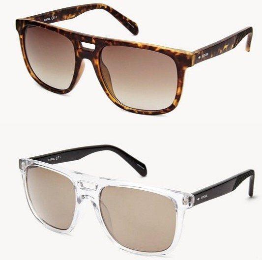 Fossil Duval Rectangle Herren Sonnenbrille für je nur 26,60€ (statt 75€)