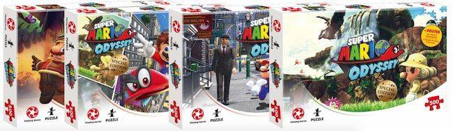 5er Set Super Mario Odyssey Puzzle mit je 500 Teilen für 42,49€(statt 55€)