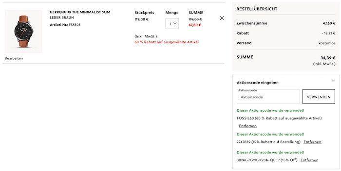 🔥 FOSSIL The Minimalist (FS5305) Herrenuhr mit Lederarmband inkl. gratis Gravur für 34,39€ (statt 84€)   und 3 weitere Knaller Deals!