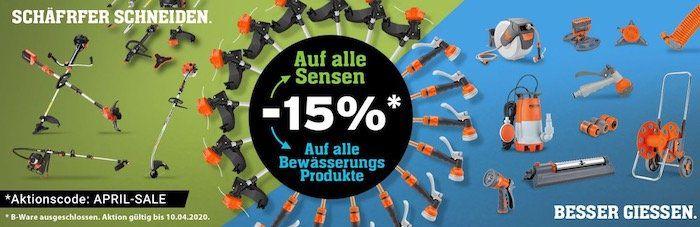 Fuxtec: 15% Rabatt auf alle Motor Sensen und Bewässerungs Produkte