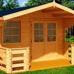 Nordic Holz Klingenberg Gartenhaus mit Terrasse (300 x 450 cm) für 1.838,94€ (statt 2.010€)