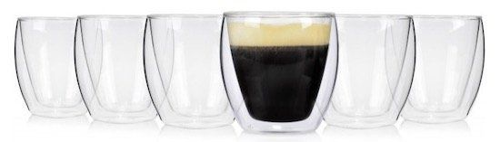 6er Set Sänger Café doppelwandige Kaffeegläser je 200 ml für 18,99€ (statt 27€)
