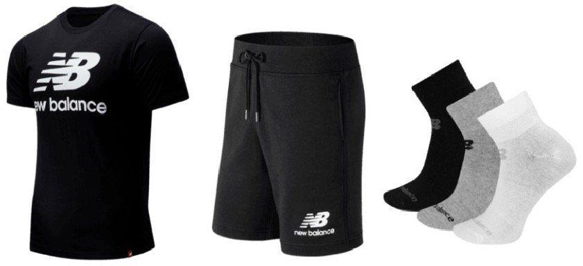 New Balance Essential Outfit (Shirt, Shorts, 3er Pack Socken) für 44,95€ (statt 52€)
