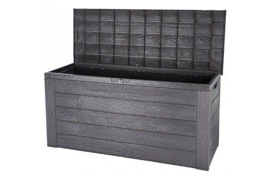 Ausverkauft! Woody Auflagenbox in Holzoptik aus  Kunststoff 120cm für 26,49€ (statt 34€)