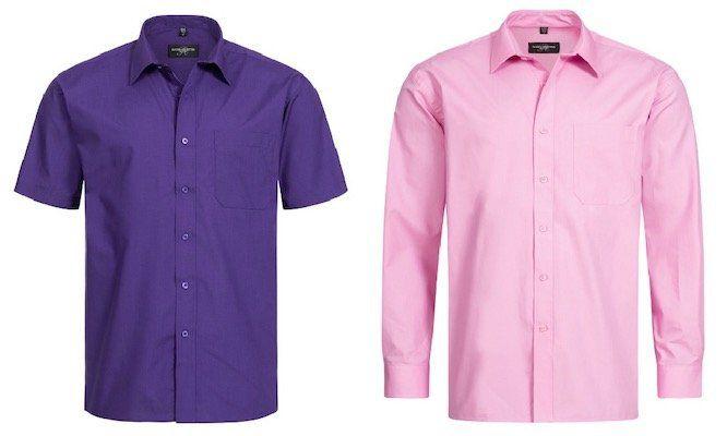 Russel Cotton Poplin Herren Hemden (lang & kurz) für je 5,49€ zzgl. VSK (statt 24€)