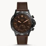 Fossil Garret Hybrid Smartwatch mit braunem Leder-Armband für 72,25€(statt 169€)