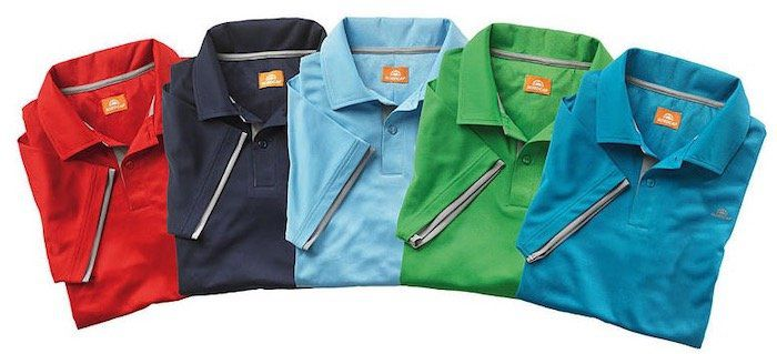 5er Pack Nordcap Funktions Poloshirts in verschiedenen Farben + Rucksack mit Kühlfach für 63,99€ (statt 100€)