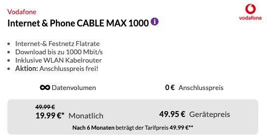 Samsung UE55RU7179U UHD Fernseher für 49,95€ + Vodafone CableMax Gigabit für 42,49€ mtl.