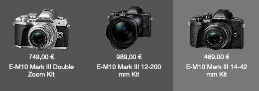 Olympus E‑M10 Mark III inkl. M.Zuiko Objektiv für 469€ (statt 629€)