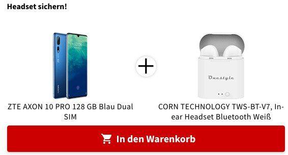 ZTE Axon 10 Pro DualSIM mit 128GB inkl. Gratis InEars ab 269€ (statt 380€) + 20€ Coupon bei Mastercard