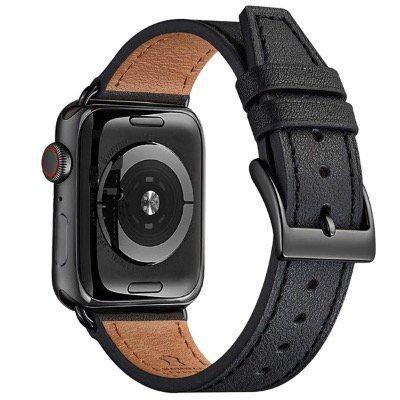 POIUY verstellbares Echt Lederband für alle Apple Watches 38mm bis 44mm für 8€ (statt 20€)   Prime