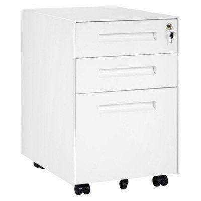 Merax Schreibtisch Rollcontainer inkl. 3 Schubladen inkl. DIN A4 Hängeregistratur für 95,99€ (statt 113€)   Versand aus DE