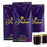 HOT! 3kg Grand Maestro Italiano Celeste Kaffeebohnen + 2 doppelwandige Kaffeegläser für 39,94€