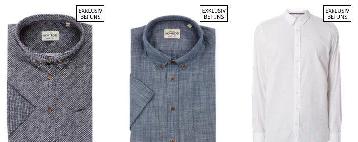 Verschiedene Freizeithemden aus Baumwolle ab 13,99€