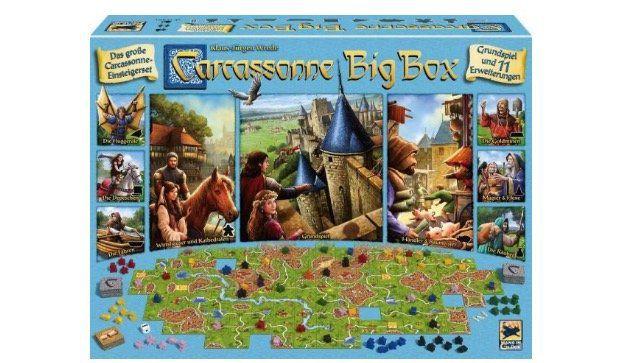 Ausverkauft! Carcassonne in der Big Box (Grundspiel und 11 Erweiterungen) für 36,97€ (statt 50€)