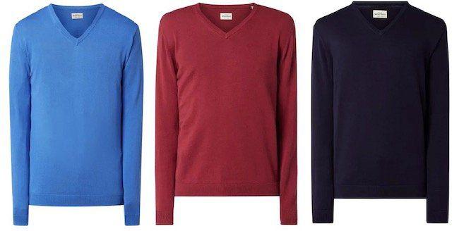 Montego Pullover aus Baumwolle mit V Ausschnitt für 6,99€ (statt 20€)
