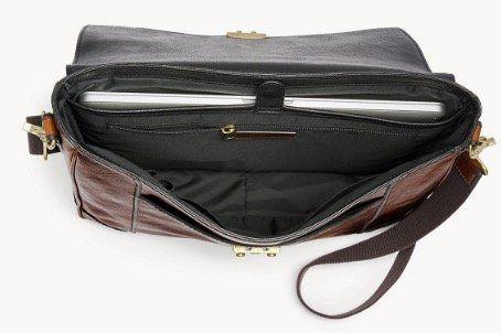 Fossil Lineage Messenger Herren Leder Tasche inkl. 15 Laptop Fach für 144,50€ (statt 339€)