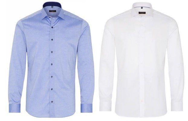 eterna Slim Fit Hemden mit 50% Rabatt   z.B. Slim Fit Stretch Himmelblau nur 24,97€