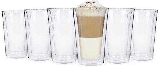 6er Set Sänger doppelwandige Gläser Latte Macchiato je 250 ml für 19,99€ (statt 30€)