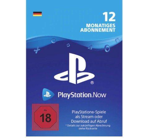 12 Monate Playstation Now Mitgliedschaft für 44,99€(statt 53€)