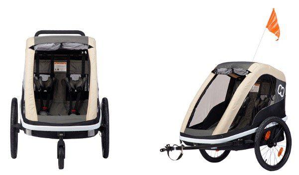 Ausverkauft! Hamax Kinderfahrradanhänger Avenida Twin Doppelsitzer in Kaffee Braun für 229,99€ (statt 535€)