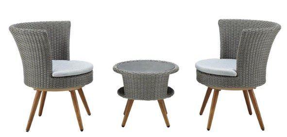 Bessagi 5 teiliges Balkonset Paola mit drehbaren Stühlen für 145,25€ (statt 200€)