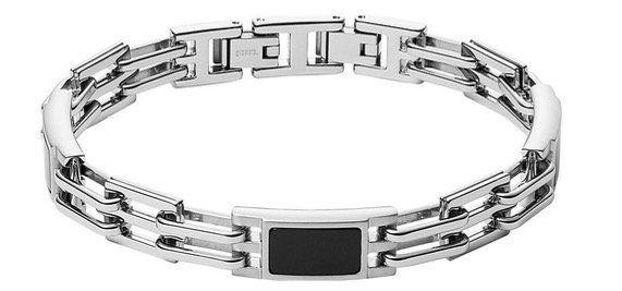 FOSSIL Herren Armband Plaque mit schwarzem Achat für 29,75€ (statt 41€)