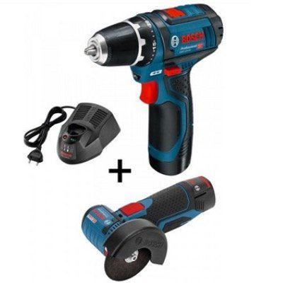 Ausverkauft! Bosch GSR 12 2 LI + GWS 12V 76 Professional inkl. 2x Akku, Ladegerät und Tasche für 143,90€ (statt 209€)
