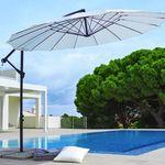 Ampelschirm Marbella mit 290cm Spannweite in Naturfarben für 62,37€