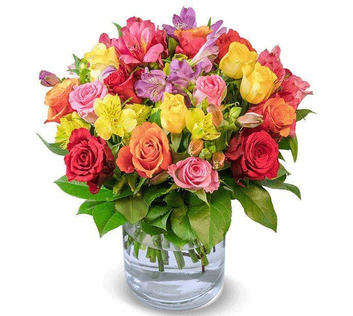 Rosenstrauß Blütenkuss mit 30 Stielen und bis zu 50 Blüten für 22,98€