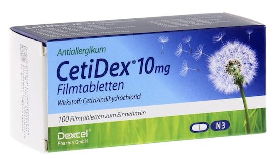 2x 100er Pack CetiDex 10mg Filmtabletten für 10,98€ (statt 16€)