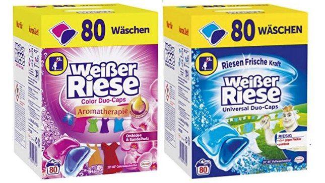 Weißer Riese DuoCaps Universal oder Aromatherapie (80 Waschladungen) je 10,99€ (statt 17€)