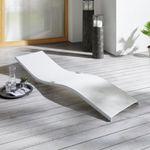 Ausverkauft! Bessagi Garden Jada Garten-Sonnenliege in Weiss für 18,75€
