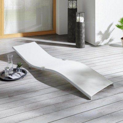 Ausverkauft! Bessagi Garden Jada Garten Sonnenliege in Weiss für 18,75€