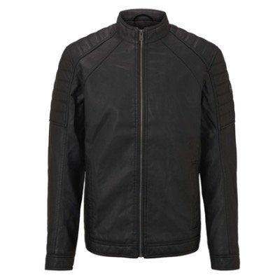 Tom Tailor Herren Bikerjacke aus Lederimitat für 34,99€ (statt 46€)