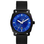 Fossil Machine Herrenuhr mit blauem Ziffernblatt + Milanaise-Armband für 45,50€ (statt 129€)