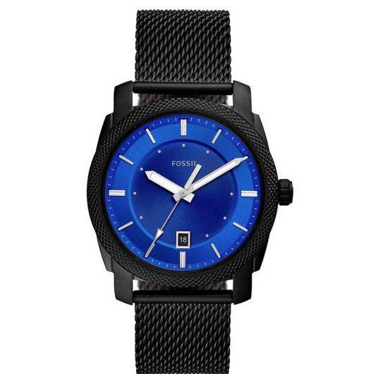 Fossil Machine Herrenuhr mit blauem Ziffernblatt + Milanaise Armband für 45,50€ (statt 129€)