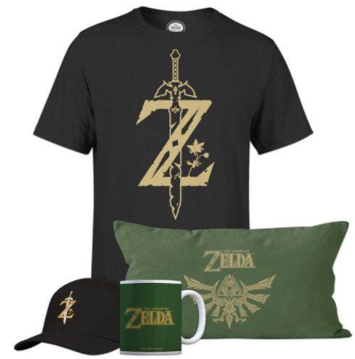 The Legend Of Zelda Ultimate Bundle (Shirt, Kissen, Tasse, Cap) für 28,48€ (statt 55€)