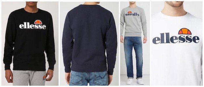 ellesse Sweatshirt mit gummiertem Logo Print in verschiedenen Farben für 29,99€ (statt 42€)