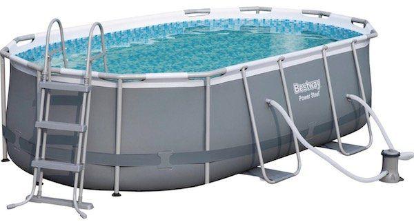 Ausverkauft! Bestway Stahlrahmen Pool Set inkl. Wasserpumpe & Sicherheitsleiter für 284,99€ (statt 450€)