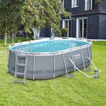Ausverkauft! Bestway Stahlrahmen-Pool Set inkl. Wasserpumpe & Sicherheitsleiter für 284,99€ (statt 450€)
